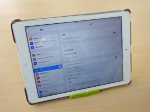 iPadAirのガラスひび割れ修理に関市よりご来店!アイフォン修理のクイック岐阜