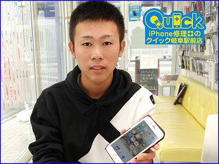☆iPhone 6の液晶交換修理に各務原市よりご来店!アイフォン修理のクイック岐阜