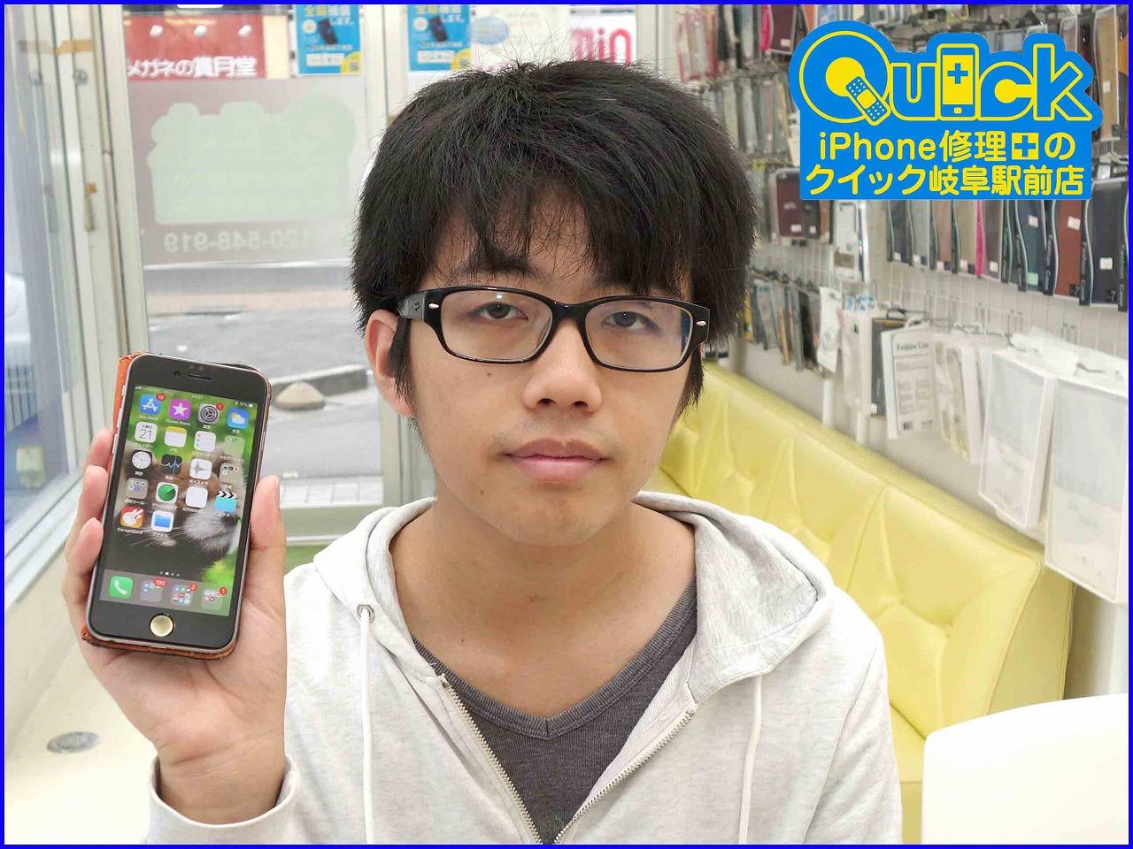 ☆iPhone6Sのバッテリー交換に岐阜市よりご来店!アイフォン修理のクイック岐阜