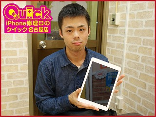 ☆iPad Air ガラス交換修理に名古屋市よりご来店!アイパッドの修理もクイック岐阜