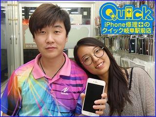 ☆iPhone6S Plusのバッテリー交換修理にご来店~♪アイフォン修理のクイック岐阜