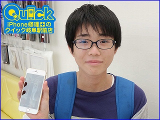 ☆iPhone6S 液晶の交換修理に一宮市よりご来店!アイフォーン修理のクイック岐阜