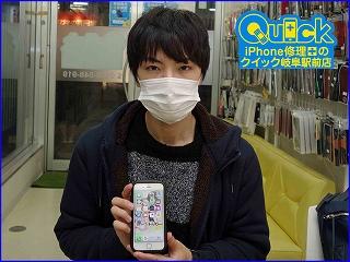 ☆iPhone6Sのガラス割れ修理に岐阜市よりご来店!アイフォン修理のクイック岐阜