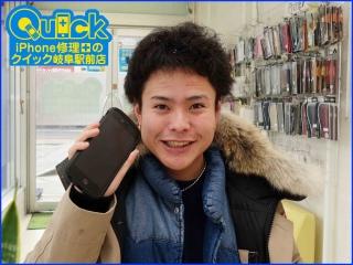 ☆ガラスが割れてタッチが出来ないiPhone6Splusの修理に岐阜市よりご来店!アイフォン修理のクイック岐阜
