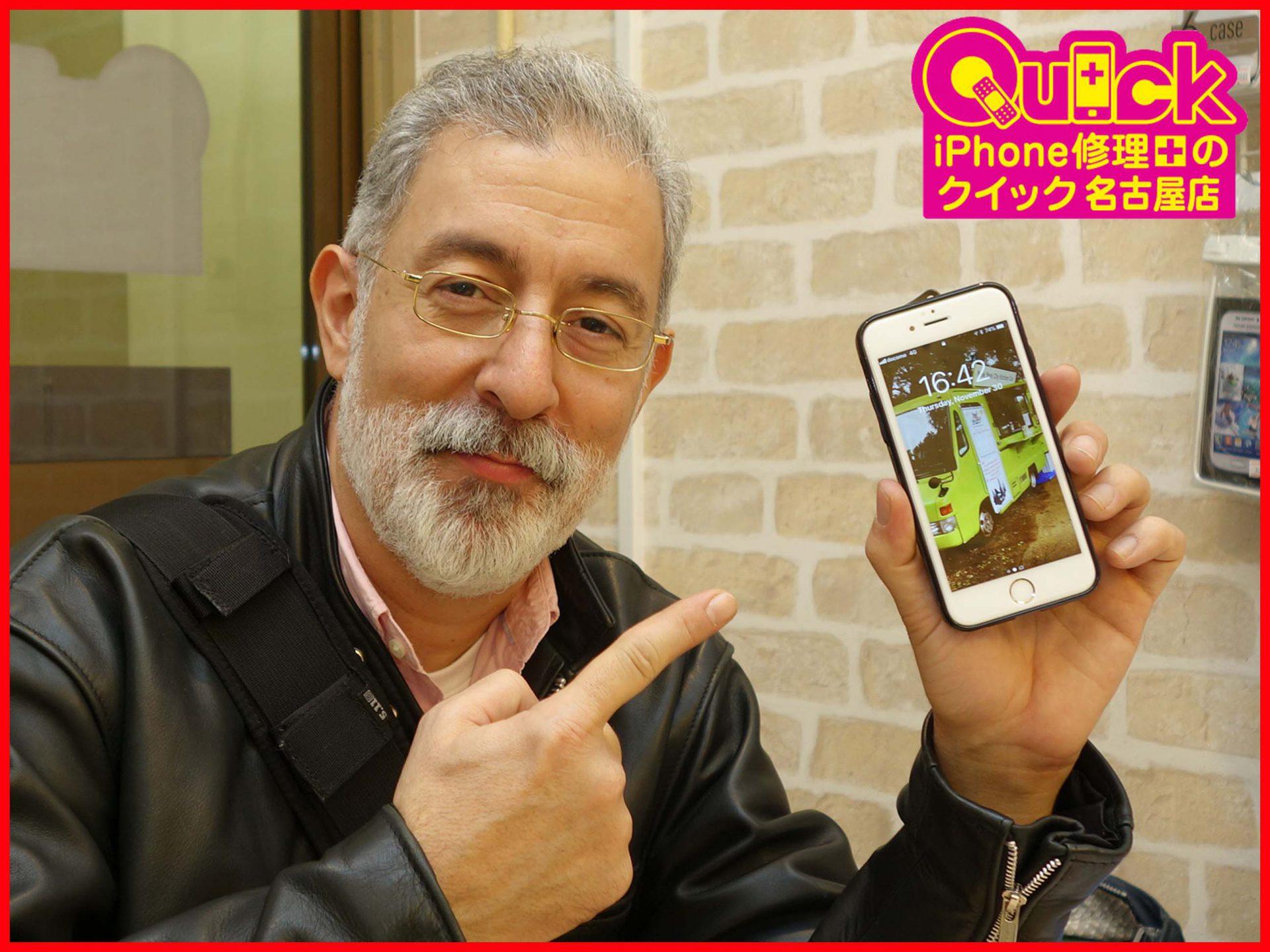 ☆iPhone6Sの液晶交換修理に名古屋市よりご来店!アイフォン修理のクイック岐阜
