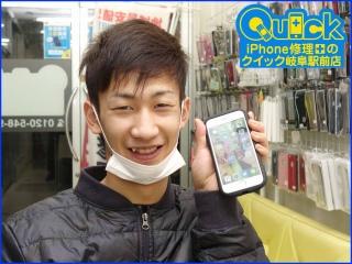 ☆他店で修理 iPhone6Sのガラス割れでタッチ操作が出来なくなり修理にご来店~♪アイフォン修理のクイック岐阜