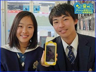 ☆iPhone6Sの画面に大きな黒いしみができてしまたと岐阜市内よりご来店!アイフォン修理のクイック岐阜