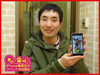 ☆液晶にノイズが入ったiPhone6Sの液晶交換修理に稲沢市よりご来店!アイフォン修理のクイック岐阜