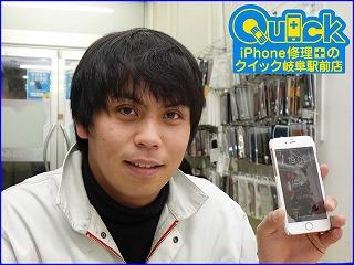 ☆落としてタッチ操作が出来なくなったiPhone6Sの液晶交換にご来店!アイフォン修理のクイック岐阜