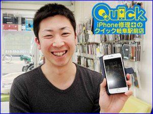 ☆落としてガラスの割れたiPhone6のガラス交換に岐阜市よりご来店!アイフォン修理のクイック岐阜