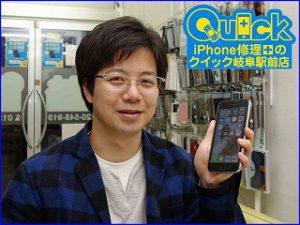 ☆落としてガラスの割れたiPhone7Plusのガラス交換に岐阜市よりご来店!アイフォン修理のクイック岐阜