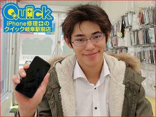 ☆液晶が全く映らないiPhone6の液晶交換修理に岐阜市よりご来店!アイフォン修理のクイック岐阜