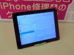 ガラスがバキバキ 画面割れ iPad2のガラス割れ修理に岐阜市よりご来店!アイパッド修理もクイック岐阜