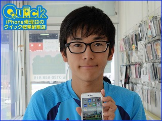☆iPhone6S ガラス割れ液晶画面修理 パスコードロックであわや初期化 アイフォン修理のクイック岐阜