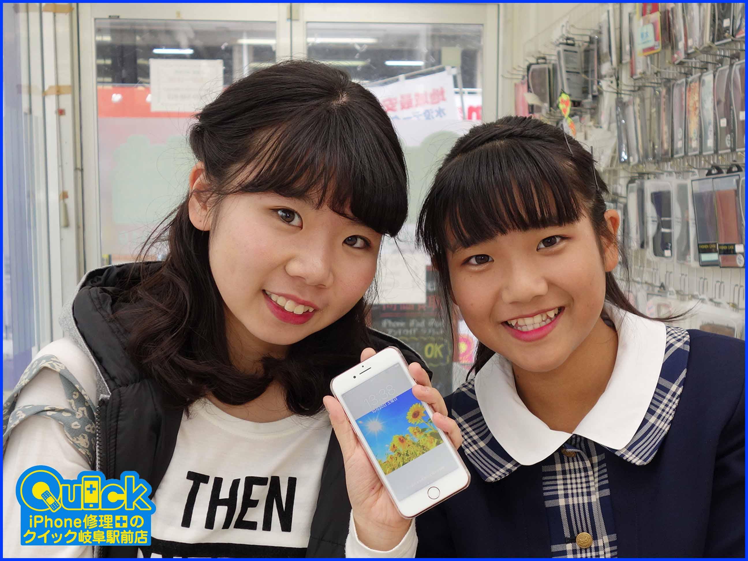 ☆各務原市 iPhone6S ガラス割れ修理 アイフォン修理のクイック岐阜
