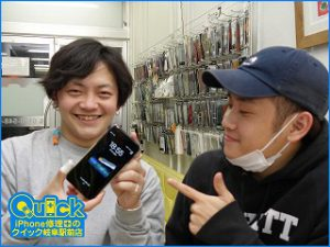 ☆iPhone7Plusのガラス割れ修理に大垣市よりご来店!アイフォン修理のクイック岐阜