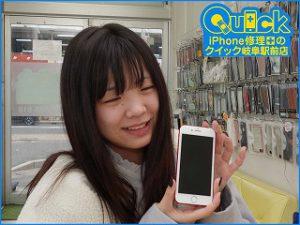 ☆岐阜市 iPhone7 落下してから画面が映らなくなった 液晶画面修理 アイフォン修理のクイック岐阜