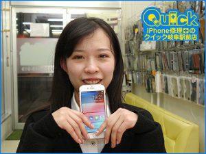 ☆iPhone7の液晶交換修理で各務原市よりご来店! アイフォン修理のクイック岐阜