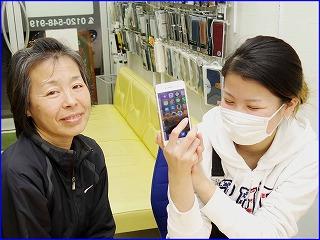☆iPhone6のガラス&バッテリー交換修理に岐阜市内よりご来店!アイフォン修理のクイック岐阜