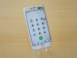 iPhone6SPのガラス交換修理に大垣市よりご来店!アイフォン修理のクイック岐阜