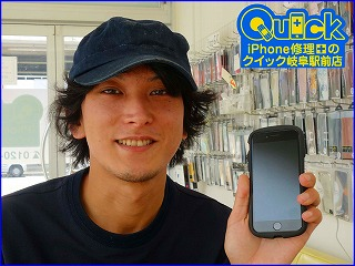 ☆iPhone7のガラス交換修理に瑞穂市よりご来店!アイフォン修理のクイック岐阜