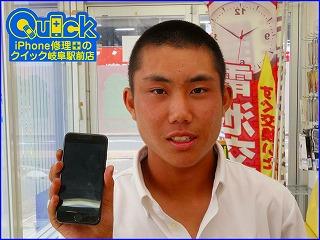 ☆iPhone7のガラス交換修理で岐阜市からご来店!アイフォン修理のクイック岐阜