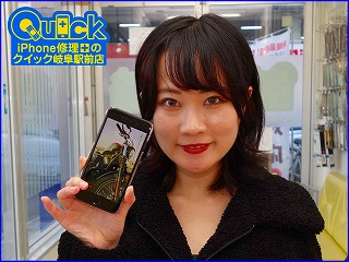 ☆iPhone7の液晶交換修理に各務原市よりご来店!アイフォン修理のクイック岐阜