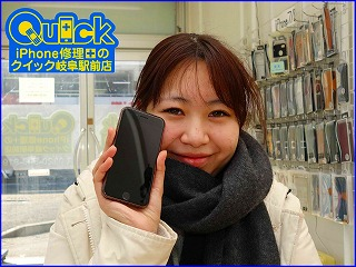☆iPhone7のガラス&バッテリー交換修理に岐阜市内よりご来店!アイフォン修理のクイック名古屋