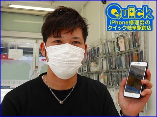 ☆各務原市よりiPhone8のガラス割れ修理に。TrueToneも大丈夫。クイック岐阜