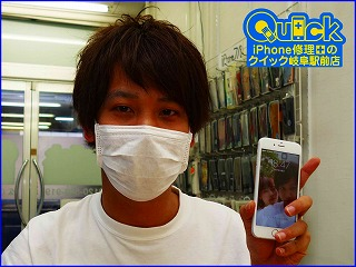 ☆iPhone6の液晶交換修理に岐阜市内よりご来店!アイフォン修理のクイック岐阜