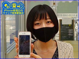 ☆iPhone8の画面修理にご来店~♪TrueToneも大丈夫!クイック岐阜