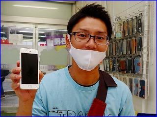 ☆iPhone8のガラス交換修理に笠松町よりご来店!アイフォン修理のクイック岐阜