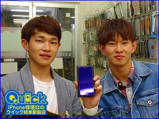 ☆iPhone7のバッテリー交換修理に岐阜市内よりご来店!アイパッド修理もクイック岐阜