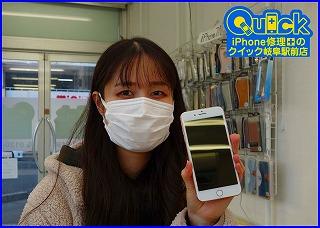 ☆タッチ操作できないiPhone 8Plusの画面修理にご来店~♪アイフォン修理のクイック岐阜