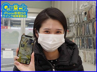 ☆岐阜市よりiPhone11Proのガラス割れ修理にご来店~♪アイフォン修理のクイック岐阜