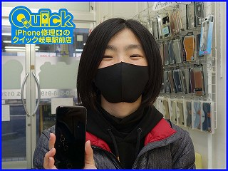 ☆iPhone8のガラス交換修理に岐阜市内よりご来店!アイフォン修理のクイック岐阜