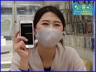 ☆岐阜市よりiPhone8のガラス割れ修理にご来店~♪アイフォン修理のクイック岐阜