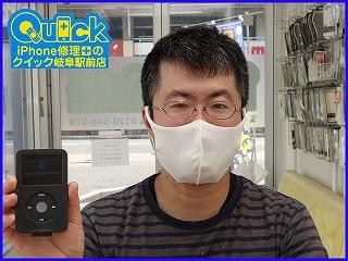 ☆i Pod classicのバッテリー交換修理に岐阜市内よりご来店!アイポッド修理のクイック岐阜