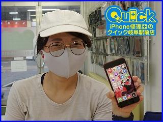 ☆岐阜市よりiPhone SE2の画面割れ修理にご来店~♪アイフォン修理のクイック岐阜