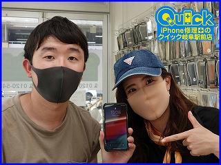 ☆iPhoneXSのガラス交換修理に岐阜市内よりご来店!アイフォン修理のクイック岐阜