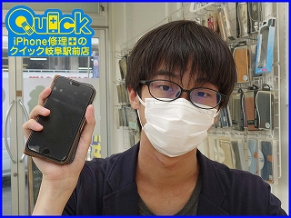 ☆充電出来なくなったiPhone8の修理にご来店~♪アイフォン修理のクイック岐阜