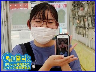 ☆iPhone7のガラス交換修理に岐阜市内よりご来店!アイフォン修理のクイック岐阜